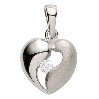 Basic Silber 21.1183S Damen Anhänger Herz Silber Zirkonia weiß