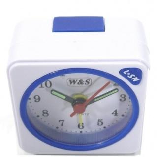 W&S 600104 Wecker Uhr weiß-blau Analog Licht Alarm - Vorschau 2