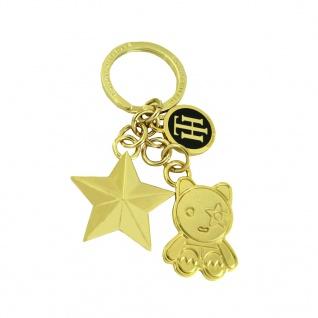 Tommy Hilfiger Mascot Star Charm Keyfob Gold Blau Schlüsselanhänger
