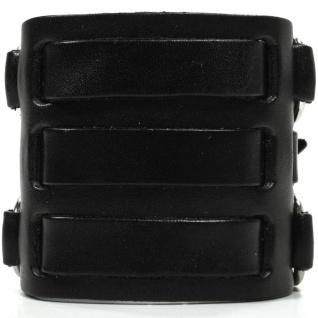 CJBB1913 Herren Armband Leder schwarz 24 cm