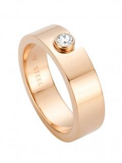 Esprit ESRG00572218 Damen Ring Gem Edelstahl Rose Weiß 56 (17.8)