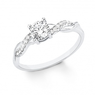 s.Oliver 9079322 Damen Ring Sterling-Silber 925 Silber Weiß 52 (16.6)