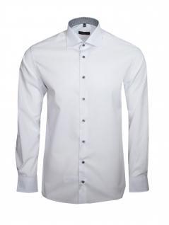 Eterna Herren Hemd Langarm Modern Fit Hemden 8500/00/X14K Weiß L/41