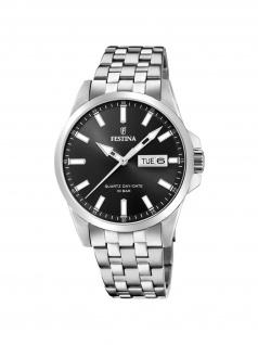FESTINA F20357/4 Uhr Herrenuhr Edelstahl Datum Silber
