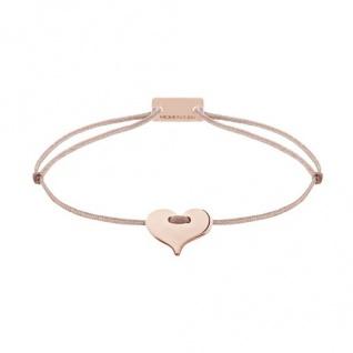 MOMENTOSS 21201105 Silber Armband Filo Herz braun beige 19 cm - Vorschau