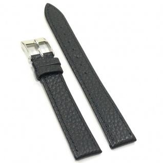Condor Uhrenband 14724-16-10 Ersatzarmband 16 mm Büffelnarbung schwarz