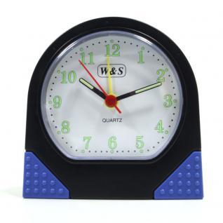 W&S 600101-schwarz-blau Wecker Alarm Licht Analog