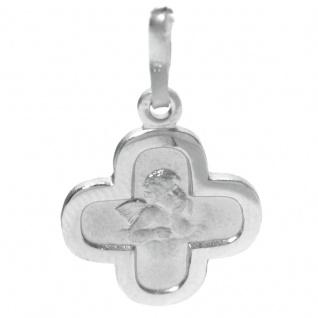 Basic Silber STG12 Kinder Anhänger Schutzengel Kreuz Silber