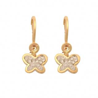Basic Gold KI85 Mädchen Ohrringe Schmetterling 14 Karat (585) Gelbgold