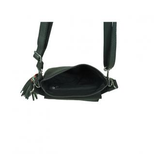 Esprit Wendy Saddlebag Schwarz Leder Handtasche Schulter Tasche - Vorschau 3