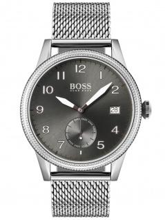Hugo Boss 1513673 LEGACY Uhr Herrenuhr Edelstahl Datum Silber