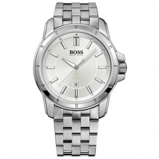 Hugo Boss 1512925 Uhr Herrenuhr Edelstahl Datum silber