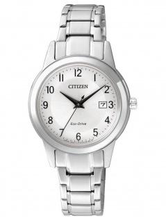 Citizen FE1081-59B DAU SPORT Eco-Drive Uhr Damenuhr Datum Silber