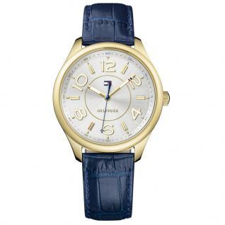 Tommy Hilfiger SOFIA Uhr Damenuhr Lederarmband blau gold
