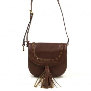 Fossil Emi Saddle Bag Braun ZB6850-210 Handtasche Tasche Leder