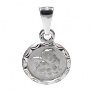 Basic Silber STG33 Kinder Anhänger Schutzengel Silber