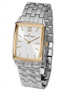 Jaques Lemans 1-1905H Uhr Damenuhr Edelstahl Silber