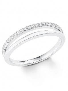 s.Oliver 2022728 Damen Ring Sterling-Silber 925 Silber Weiß 58 (18.5)