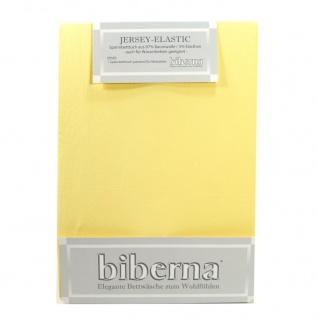 Biberna 77866 Jersey Elastic Spannbetttuch Jasmin Gelb 180x200 200x220
