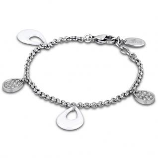 LOTUS LS1706-2-1 Damen Armband Edelstahl Keramik weiß 20 cm