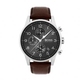 Hugo Boss 1513494 Navigator Uhr Herrenuhr Lederarmband Datum Braun