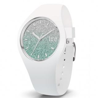 Ice-Watch 013426 Ice-Lo White türkis small Uhr Damenuhr Silikon Weiß