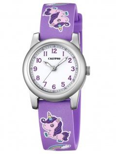 Calypso K5713/A Einhorn Uhr Mädchen Kinderuhr Kunststoff lila