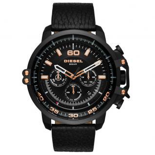 Diesel DZ4409 DEADEYE Chronograph Uhr Herrenuhr Leder Datum schwarz