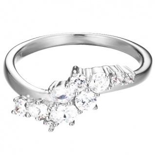 Esprit Damen Ring ES-FLOATING STONES Silber weiß 56 (17.8)