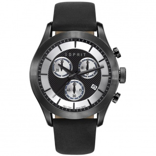 Esprit ES108411002 esprit-tp10841 black Uhr Leder Chrono Datum schwarz