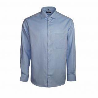 Eterna Herren Hemd Langarm Comfort Fit Blau L/42 Hemden 4401/12/E19K