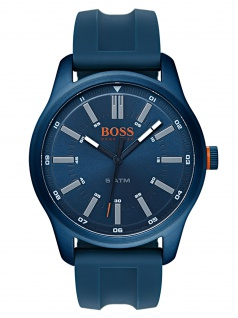 Boss Orange 1550046 DUBLIN Uhr Herrenuhr Kautschuk Datum Blau