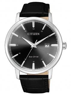 Citizen BM7460-11E Eco Drive Uhr Herrenuhr Lederarmband Datum schwarz