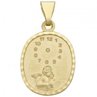 Basic Gold TG02 Kinder Anhänger Taufuhr mit Engel 14 Karat (585) Gold