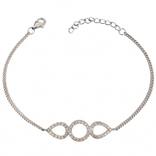 GOOIX 914-06380 Damen Armband Sterling-Silber 925 Silber Weiß 20 cm