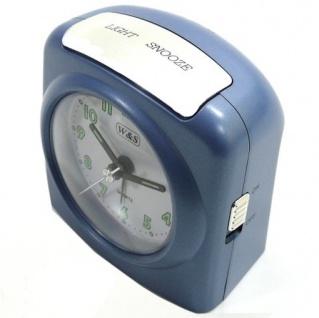 W&S 02028 Wecker Uhr blau-weiß Analog Licht Alarm - Vorschau 2