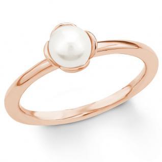 s.Oliver 2018592 Damen Ring Sterling-Silber 925 Rose Weiß 56 (17.8)