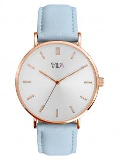 laVIIDA WVI2014R Vienna Uhr Damenuhr Lederarmband Blau