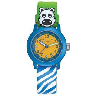 Esprit ESPRIT-TP10641 GREEN ZEBRA Uhr Junge Kinderuhr Leder grün blau