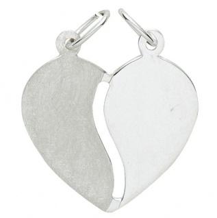 Basic Silber 29.1079S Damen Anhänger Herz Partneranhänger Silber