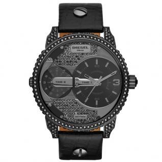 Diesel DZ7328 Uhr Damenuhr Lederarmband schwarz