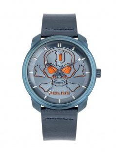 POLICE PL.15714JSBL/03 BLEDER Uhr Herrenuhr Lederarmband Blau