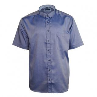 Eterna Herrenhemd Kurzarm Comfort Fit Blau Freizeit Hemd Hemden XXL/46