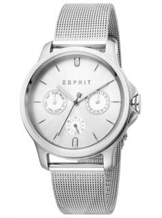 Esprit ES1L145M0055 Turn Uhr Damenuhr Edelstahl Datum silber