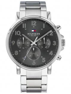 Tommy Hilfiger 1710382 DANL Uhr Herrenuhr Edelstahl Datum Silber