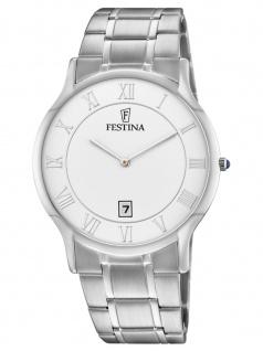 FESTINA F6867/1 Uhr Herrenuhr Edelstahl Datum Silber