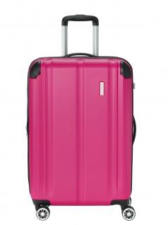 Travelite Trolley CITY M Hartschalenkoffer Koffer 86L Pink 73048-17