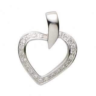 Basic Silber 21.1175S Damen Anhänger Herz Silber Zirkonia weiß