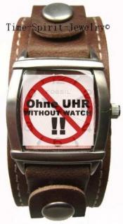 Fossil Uhrband LB-JR9010 Original Lederband braun