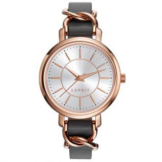 Esprit ES109342003 TP10934 GREY Uhr Damenuhr Lederarmband grau rose
